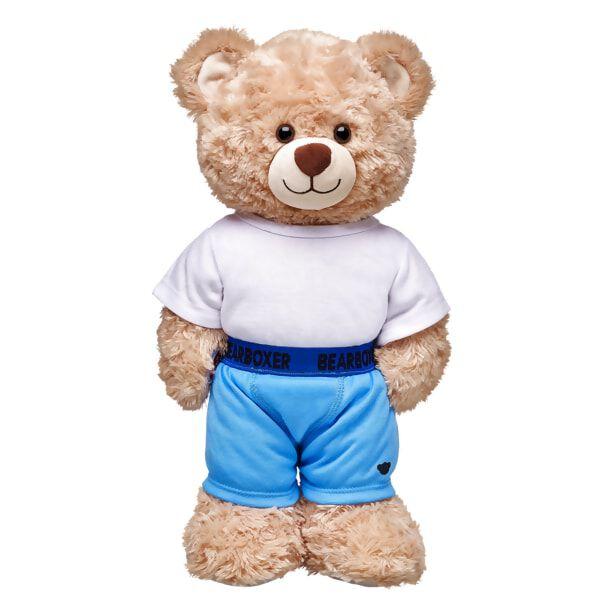 Basic Blue BearBoxer Shorts, , hi-res