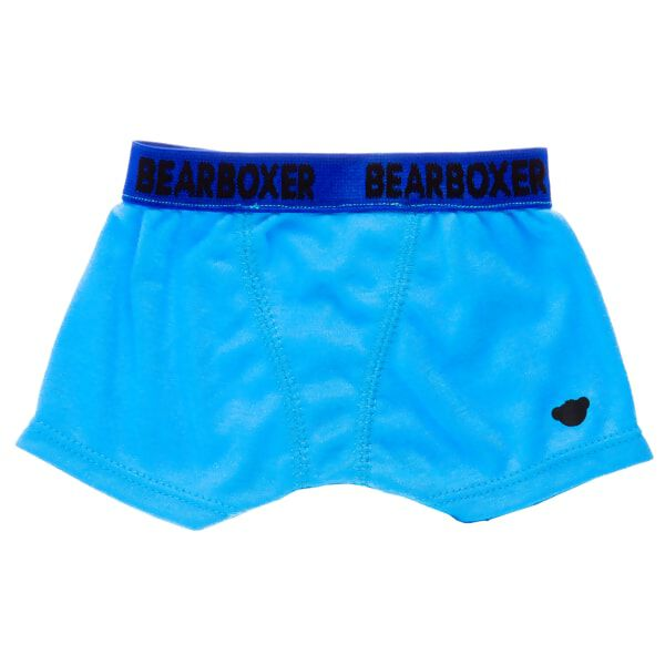 Basic Blue BearBoxer Shorts, , hi-res