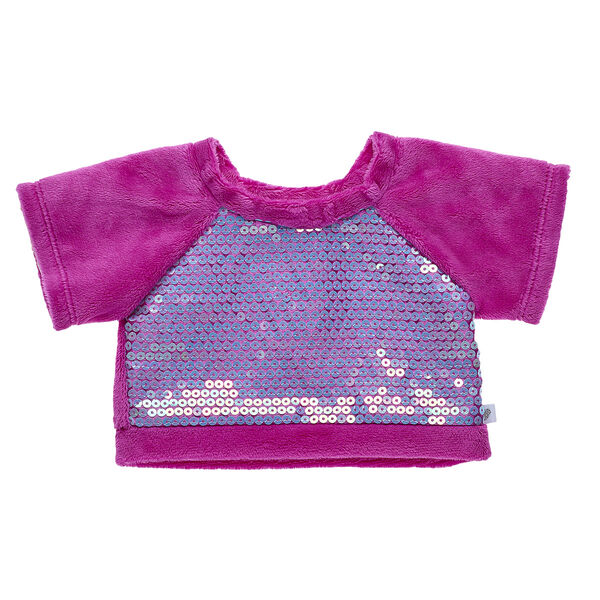 Your furry friend will be pretty in pink with this comfy sweatshirt! The front of the sweatshirt has shimmery sequins for some extra flair.