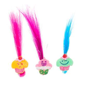 Complete the look of your Make-Your-Own Poppy from DreamWorks Trolls or any furry friend with this three-piece set of colorful hair extensions. The hot pink, magenta and blue hair extensions each feature a smiling cupcake clip and add a fun pop of color!DreamWorks Trolls © 2016 DreamWorks Animation LLC. All Rights Reserved.