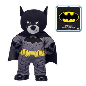 80th Anniversary Batman™ Bear with 6-in-1 Sayings, , hi-res