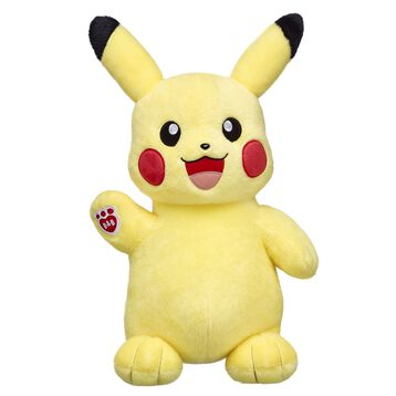 Add Pikachu to your Pokémon team! This Electric-type Pokémon has bright yellow fur and a lightning bolt-shaped tail. This adorable furry friend is one of the most famous Pokémon ever and a must-have for any Pokémon Trainer!
