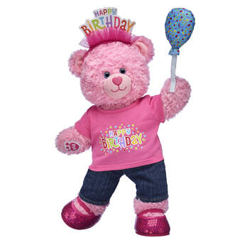 Pink Cuddles Teddy Birthday Balloon Gift Set, , hi-res