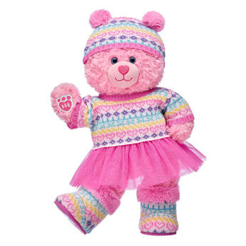 Pink Cuddles Teddy Winter Gift Set, , hi-res