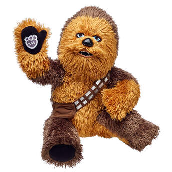Bring home the friendliest and most protective Wookiee in the universe with this Chewbacca plush. Chewy's bandolier included. Personalize with clothing.