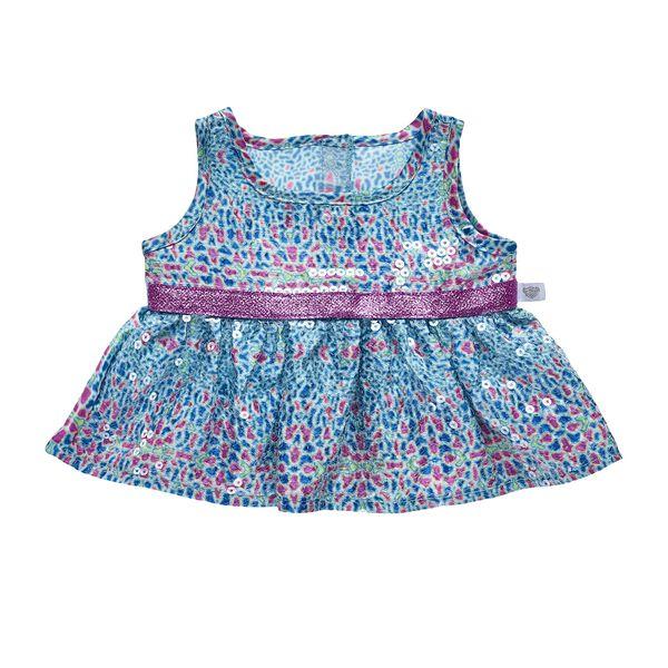 Turquoise & Pink Sequin Dress, , hi-res