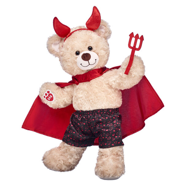 teddy bear with devil horns and cape valentines day gift set