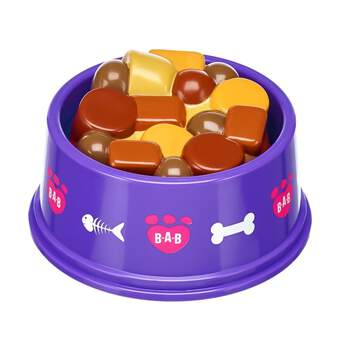 When your Promise Pets™ furry friend gets hungry and thirsty, this play food and water bowl is just what they need! This purple pet bowl has a cute design and features a two-sided insert that lets you choose from the play food side or the play water side.