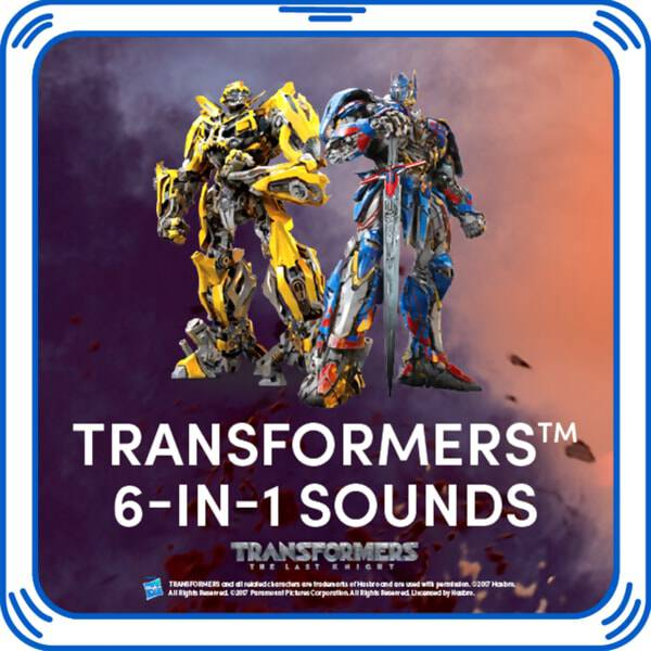 Add these Transformers™ sounds to your furry friend to make sure they're ready for any epic quest! Your Transformers™ Bumblebee™ Bear and Transformers™ Optimus Prime™ Bear will be even more heroic with these signature sound effects added. Add this special sound chip to make a perfect gift for movie fans!  2017 Hasbro. All Rights Reserved   2017 Paramount Pictures Corporation.