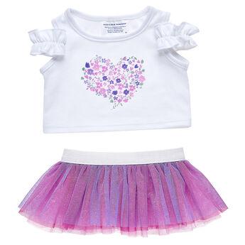 Flower Heart Skirt Set 2 pc., , hi-res