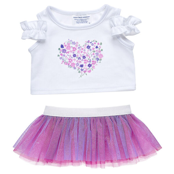 Flower Heart Skirt Set 2 pc., , hi-res