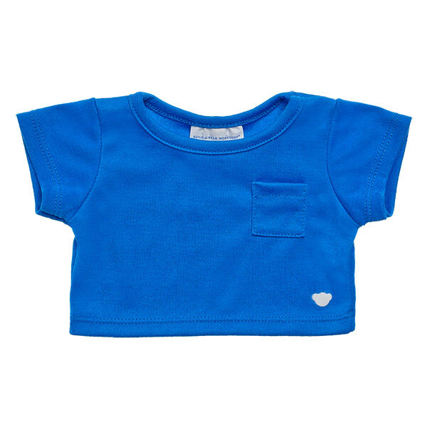 Add a Blue Pocket T-Shirt to give your furry friend a classic and cool look. This blue tee has a small pocket on the left side of the chest.