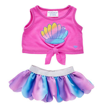 Sparkly Shell Skirt Set 2 pc. - Build-A-Bear Workshop®