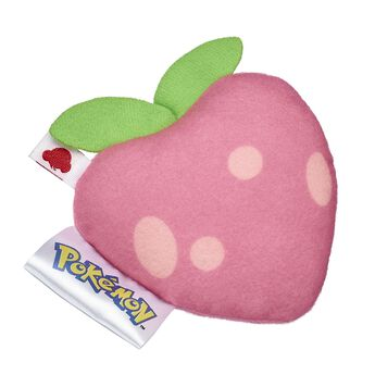 Pecha berries can instantly cure your Pokémon of poisoning! This plush pecha berry wrist accessory is the perfect size for your furry friend! ©2018 The Pokémon Company International. ©1995–2018 Nintendo / Creatures Inc. / GAME FREAK inc. TM, ®, and character names are trademarks of Nintendo.