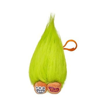 Embrace your inner Troll! Even if it's mostly just hair! Fuzzbert from the movie DreamWorks Trolls becomes a backpack clip, perfect for clipping and taking anywhere! Fuzzbert features styleable green hair, an orange clip and orange legs with the DreamWorks Trolls logo on one foot and the B-A-B logo on the other. DreamWorks Trolls © 2016 DreamWorks Animation LLC. All Rights Reserved.