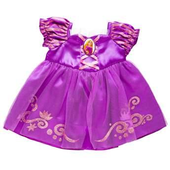Dress your furry friend up as Princess Rapunzel with the beautiful purple dress! The teddy bear size Rapunzel Costume is a beautiful purple gown with a Princess Rapunzel cameo.© Disney
