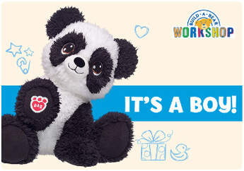 It's a boy! Celebrate the beary exciting news with an E-Gift Card to Build-A-Bear Workshop!