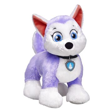 Ice or snow, she's ready to go! The newest member of PAW Patrol is the mountain Husky pup groomed for snowy rescues! Everest's lavender fur and blue eyes go well with her included evergreen tree symbol Pup Tag. Personalize Everest with her coat and cap, Pup Pack and signature sounds.© 2016 Spin Master PAW Productions Inc. All Rights Reserved. PAW Patrol and all related titles, logos and characters are trademarks of Spin Master Ltd. Nickelodeon and all related titles and logos are trademarks of Viacom International Inc.