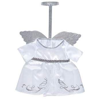 Your furry friend will give joy to the world in this beautiful angel dress. With silver wings and an attached silver halo, this shimmery stuffed animal dress makes a perfect gift this season.