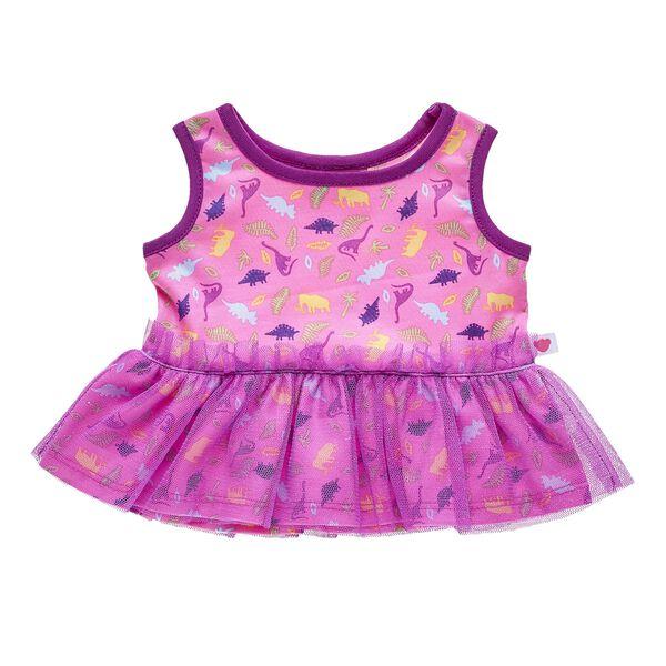 Pink Dinosaur Dress, , hi-res