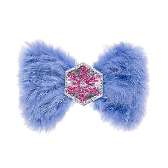 Fuzzy Snowflake Bow - Build-A-Bear Workshop®