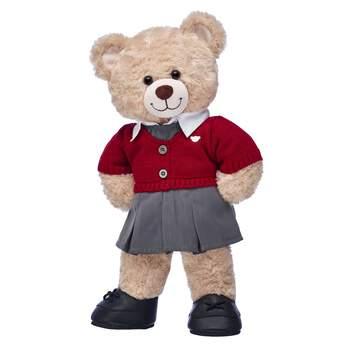 Happy Hugs Teddy Red School Uniform Gift Set, , hi-res