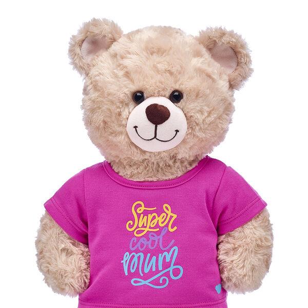 """Teddy Bear Wearing """"Super Cool Mum"""" T-Shirt"""