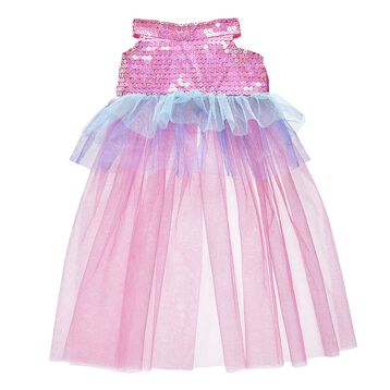 This sparkly dress for plush toys has pink sequins on the body with a flowing tulle skirt portion. Outfit a furry friend online to make the perfect gift. Make your own your own stuffed animal online with our Bear Builder or visit a store near you.