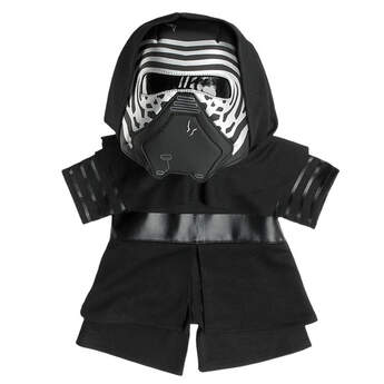 Join the First Order with Kylo Ren! Dress your plush in this three piece costume (hooded jacket, pants, and mask) from Star Wars: The Force Awakens.