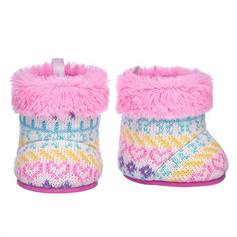 Fair Isle Winter Boots - Build-A-Bear Workshop®
