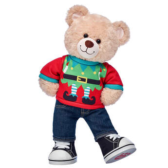 Happy Hugs Teddy Elf Sweater Gift Set, , hi-res