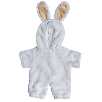 Whether your furry friend is heading out on an egg hunt or just having fun with friends, this cute bunny costume is the perfect springtime look. With super soft white fur, this full body bunny costume has openings for your furry friend's face, hands and feet. Featuring cream coloured bunny ears, it's a cuddly look that's a fun addition to any Easter basket!