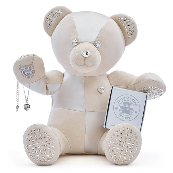 Adult Collectible Online Exclusive Build-A-Bear Featuring Heart Stone Pendant Silver Necklace with Swarovski® crystals, , hi-res