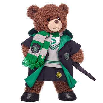 Harry Potter Bear Slytherin Gift Bundle with House Robe, Scarf, Hogwarts Skirt & Wand, , hi-res