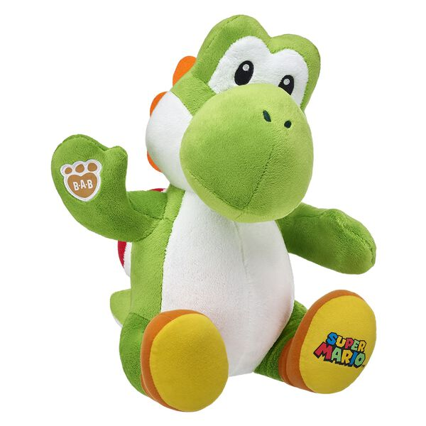 Kind-hearted and easygoing, Yoshis are always ready for adventure! With their signature shell and shoes included, it's more fun than ever to add Mario's closest buddy to your collection. ™ & © 2017 Nintendo.
