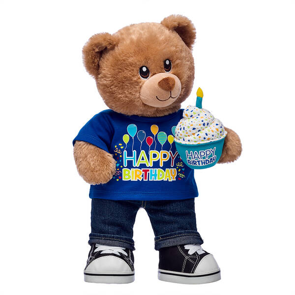 Birthday Treat Bear Blue Cupcake Gift Set, , hi-res