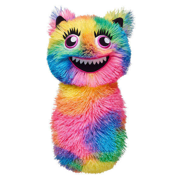 Mix & match to make your own Monster Mixter! Some assembly required. Choose a body, grab arms, pick legs. Mix it up with more parts! Personalize your furry friend by adding hands, feet and more Mixter parts. This fuzzy rainbow body is perfect for your Mixter.