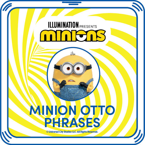 Minion Otto Phrases - Build-A-Bear Workshop®