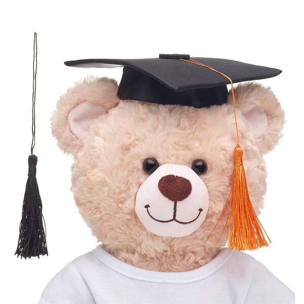 Online Exclusive Black Graduation Cap with Orange Tassel, , hi-res