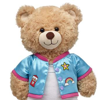 Your kawaii furry friend will look super cool in this stylish Kabu bomber jacket. This blue zip-up jacket makes a PAWsome addition to any furry friend's wardrobe! Shop online or in store at Build-A-Bear Workshop!