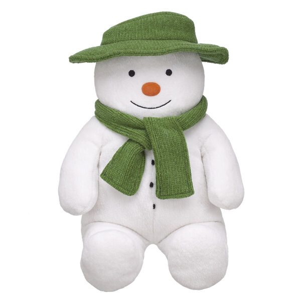 Cold hands, warm hearts! The Snowman first came to life one winter's night 40 years ago – and now you can experience the magic by bringing The Snowman to life at Build-A-Bear Workshop! This adorable furry friend comes with his hat and scarf included and is a festive way to mark 40 years of the timeless tale beloved by generations! © Snowman Enterprises Limited 2018 THE SNOWMAN™ Snowman Enterprises Limited