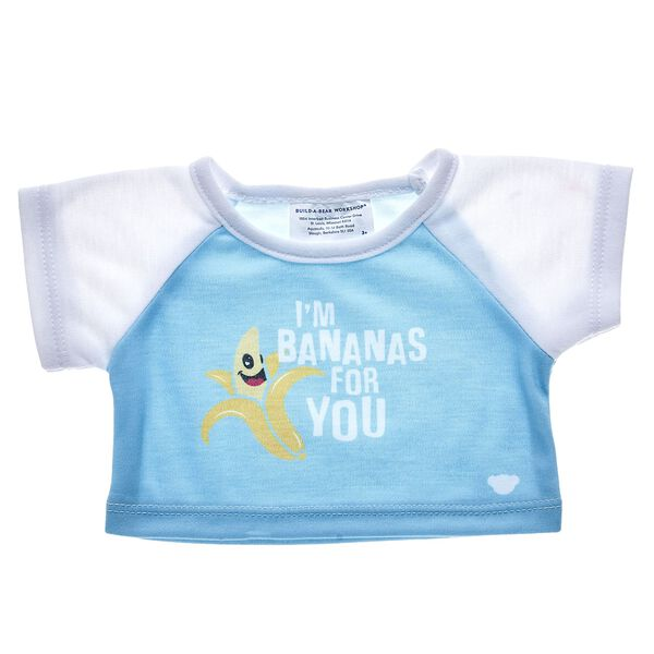 Let them know you're bananas for them with this cheerful T-shirt! Find stuffed animals, clothing & accessories for any occasion at Build-A-Bear.
