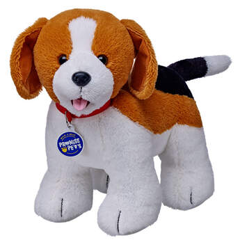 Beagles are floppy-eared friends for life. This Build-A-Bear Promise Pet Toy Beagle loves playing fetch, eating treats and having its belly rubbed.