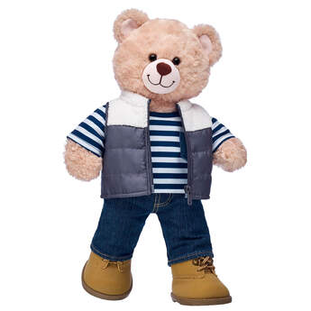 Happy Hugs Teddy Puffer Vest Gift Set, , hi-res