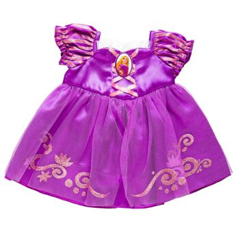 Dress your furry friend up as Princess Rapunzel with the beautiful purple dress! The teddy bear size Rapunzel Costume is a beautiful purple gown with a Princess Rapunzel cameo.© Disney