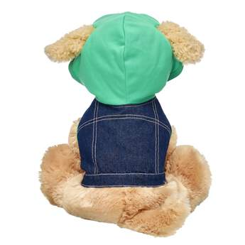 Give any Promise Pet a classic look with this super cool denim hoodie! This fashionable hoodie features a denim body and a green hood with holes for your furry friend's ears. It's a cool look that never goes out of style!