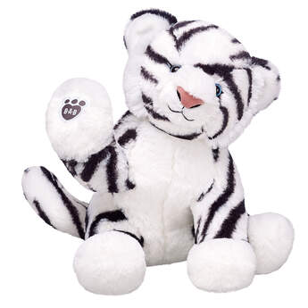 White tigers are variations of Bengal tigers with pigmentation differences. The white tiger is a highlight of any zoo, and the white tiger furry friend with its black stripes will add cuteness to your zoo animal collection!