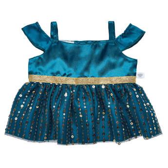 Green & Gold Christmas Dress - Build-A-Bear Workshop®