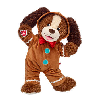 Whip up a sweet treat with this adorable plush puppy gift set! Playful Pup is super cosy in its gingerbread onesie costume. This stuffed animal gift set is sure to satisfy their sweet tooth this Christmas!