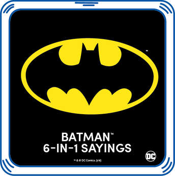 To the Batcave! Transform any furry friend into the protector of Gotham City with Batman 6-in-1 Sayings. Listen to Batman's favourite phrases every time you squeeze your furry friend's paw.  ™ &  DC Comics. (s13)